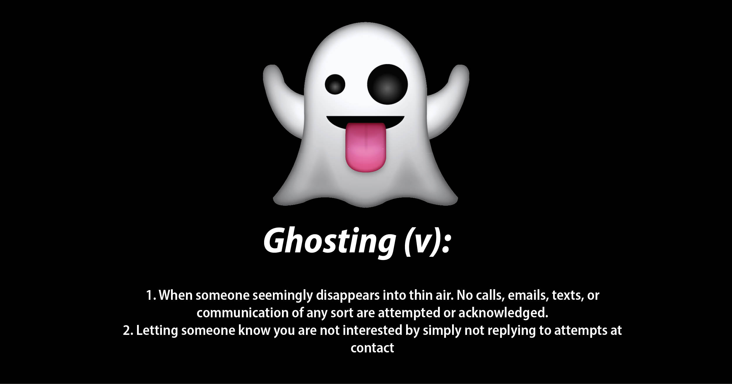 Ghosting is Short-Sighted and Dumb – 4most.cz